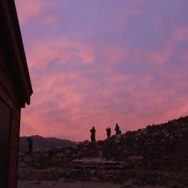 双六小屋からの夕焼け
